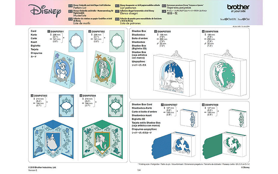 Disney Cinderella and Ariel Paper design collection CADSNP07 12