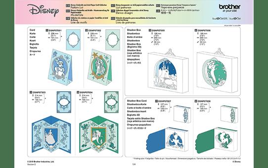 Collezione disegni Disney Cinderella e Ariel CADSNP07 12