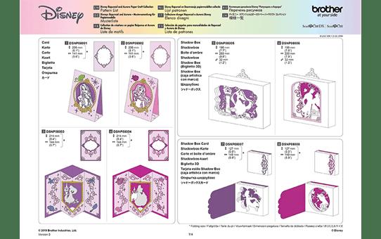 Disney Rapunzel en Doornroosje snijpatronencollectie CADSNP08 9