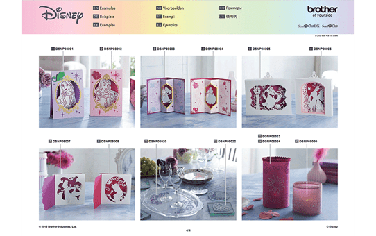 Collection de motifs Raiponce et Aurore de Disney CADSNP08 12