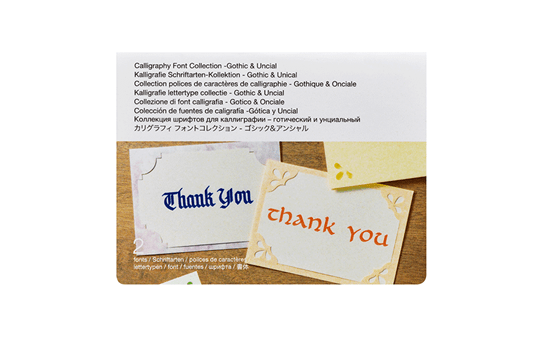 Collection polices de caractères de calligraphie CADXCLGFP01 - Gothique & Onciale  3