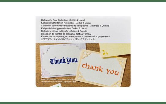 Kalligrafie lettertype collectie - CADXCLGFP01 3