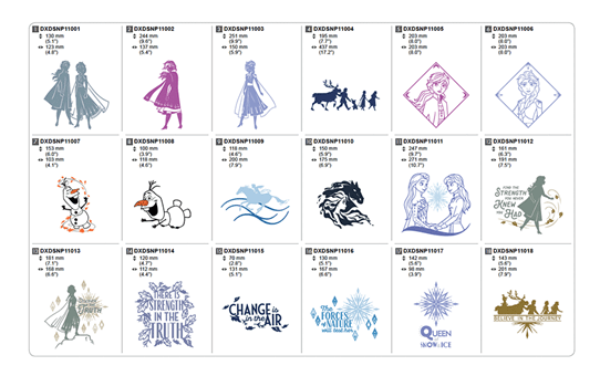 Collection de motifs Disney La Reine des Neiges II pour lame auto-ajustable pour vinyle CADXDSNP11 4