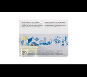 Carte Collection 1 de motifs pour chargeur de rouleau sur fond blanc