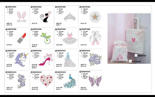 Collection de motifs pour strass CARSDP01 5