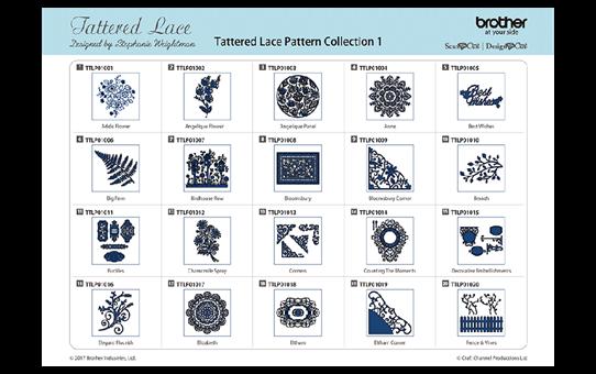 ScanNCut Tattered Lace-Kollektion 1 CATTLP01 2