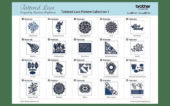 Collection n°1 de motifs dentelle Tattered Lace ScanNCut CATTLP01 2