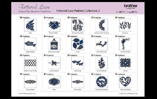 Collection n°2 de motifs dentelle Tattered Lace ScanNCut CATTLP02 2