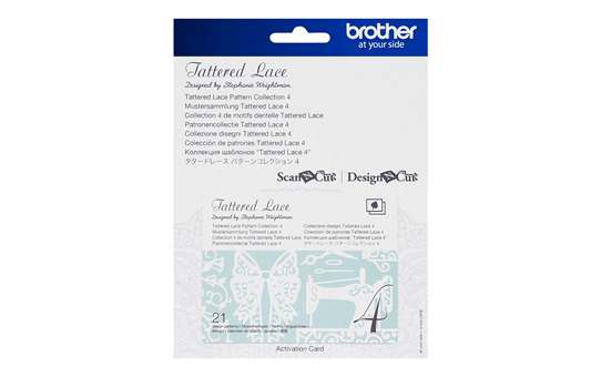 Collection n°4 de motifs dentelle Tattered Lace Brother ScanNCut CATTLP04