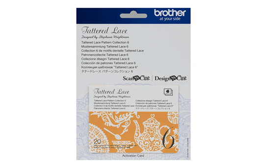 Collection n°6 de motifs dentelle Tattered Lace Brother ScanNCut CATTLP06