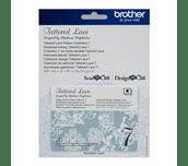 Carte d'activation bleu ciel et blanc de motifs Tattered Lace