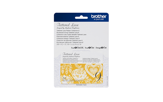 Collection n°9 de motifs dentelle Tattered Lace Brother ScanNCut CATTLP09 2