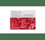 Carte Collection 11 de motifs dentelle Tattered Lace sur fond blanc
