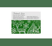 Carte Collection 12 de motifs dentelle Tattered Lace sur fond blanc