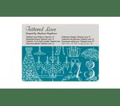 Carte Collection 13 de motifs dentelle Tattered Lace sur fond blanc