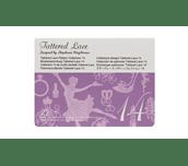 Carte Collection 14 de motifs dentelle Tattered Lace sur fond blanc