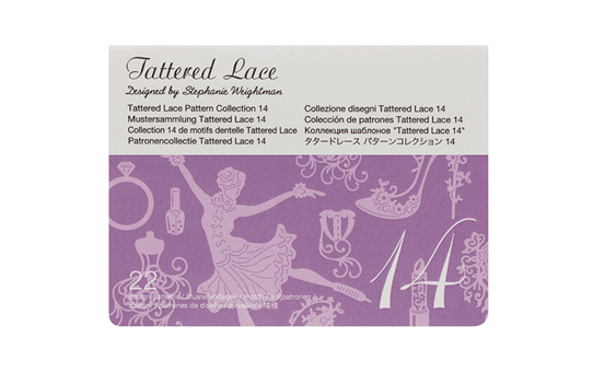 Collection n°14 de motifs dentelle Tattered Lace Brother ScanNCut CATTLP14