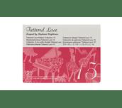 Carte Collection 15 de motifs dentelle Tattered Lace sur fond blanc