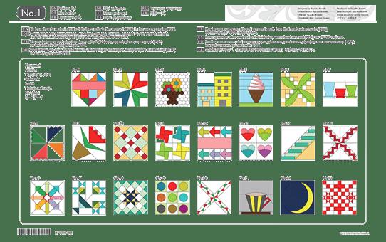 Collection de motifs de Quilting (courtepointe) CAUSB1 pour ScanNCut 2