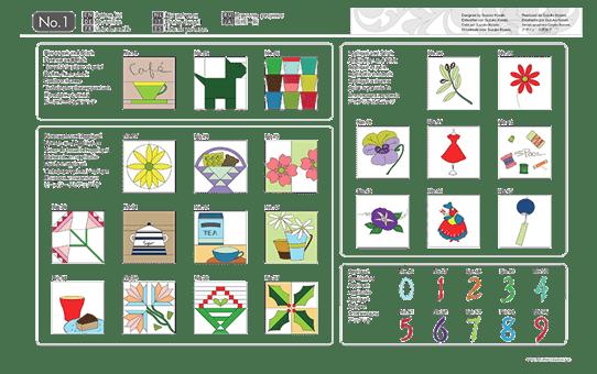 Collection de motifs de Quilting (courtepointe) CAUSB1 pour ScanNCut 3