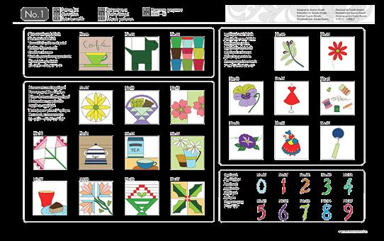 Collezione disegni per trapunte CAUSB1 per ScanNCut 3