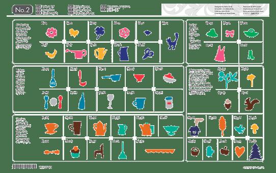 Collection de motifs d'Appliqué CAUSB2 pour ScanNCut 2