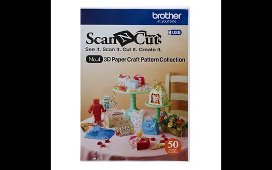 Sammlung mit 3D-Papiermodellen für ScanNCut CAUSB4