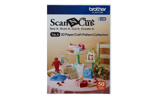Collection de patrons artisanaux en papier 3D CAUSB4 pour ScanNCut