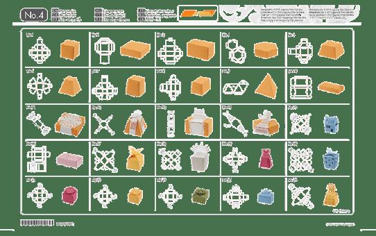 ScanNCut Collectie voor 3D-papiermodellen CAUSB4 2