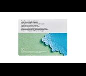 Perforations Design Kollektion Karte auf weißem Hintergrund