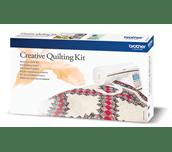 Kit quilting créatif avec mach. à coudre NV1800Q et quilt blocs rouges