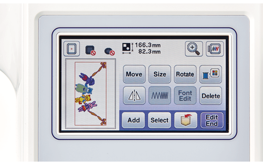 Innov-is F480 швейно-вышивальная машина 5