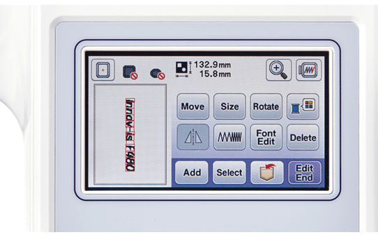 Innov-is F480 Machine à coudre et à broder 7