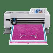 ScanNCut CM300 snijmachine met paarse vlinder op mat