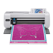 ScanNCut CM300 cutting machine with purple butterfly on mat