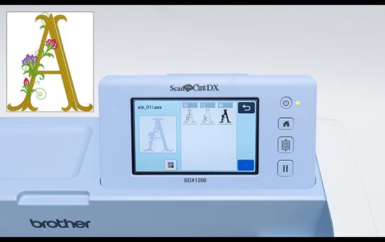 ScanNCut SDX1200 Schneidemaschine mit Videotraining 6