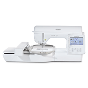 Front view of Brother  NV880E embroidery machine on white background