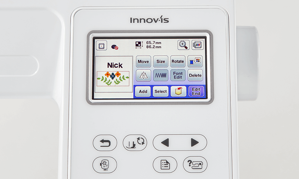 Innov-is M240ED embroidery machine 4