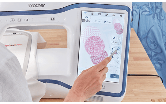 Innov-is Stellaire XE1 embroidery machine 11
