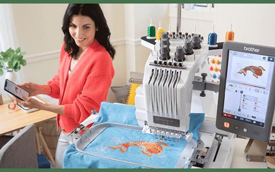 PR680W 6-Needle embroidery machine 4