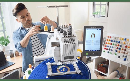PR680W 6-Needle embroidery machine 8
