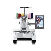 Front view of Brother PR680W embroidery machine on white background