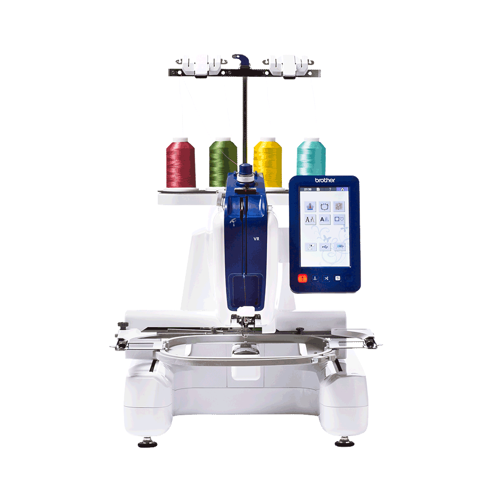 VR embroidery machine