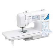 Brother FS130QC computerized quilting machine with attached wide table