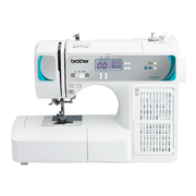 Front shot of Brother FS250FE sewing machine on white background