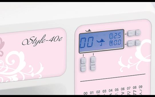 Style-40e компьютеризованная швейная машина  8