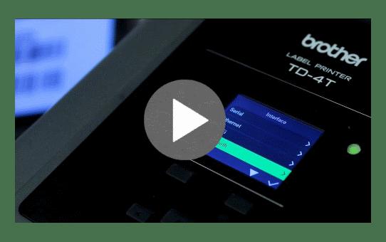 TD-4750TNWB imprimante d'étiquettes professionnelle 4 pouces - transfert thermique + WiFi + LAN + Bluetooth 6