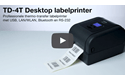 TD-4750TNWBR thermal transfer labelprinter 4 inch 6