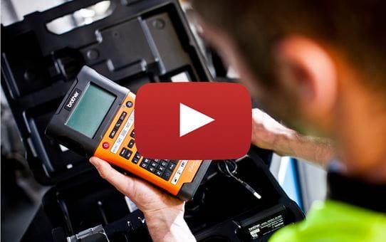 PT-E550WNIVP - labelprinter-pakke til identifikation af netværksinfrastruktur og kabler 11