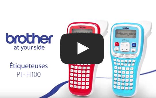 PT-H100LB étiqueteuse titreuse P-touch bleue 4